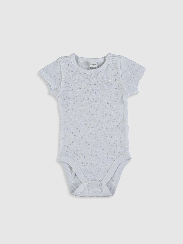 Beyaz Kız Bebek Pamuklu Çıtçıtlı Body 0SS046Z1 LC Waikiki