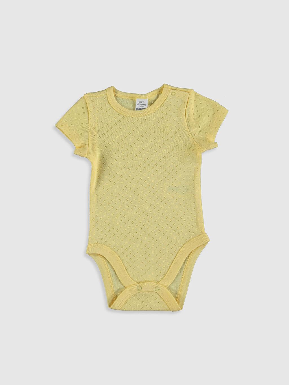 Sarı Kız Bebek Pamuklu Çıtçıtlı Body 0SS049Z1 LC Waikiki