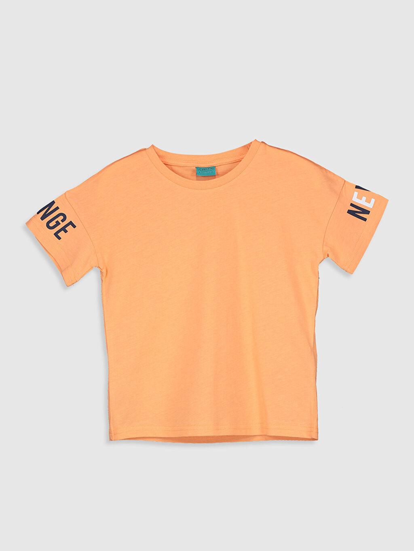 Mercan Erkek Çocuk Pamuklu Basic Tişört 0SS089Z4 LC Waikiki
