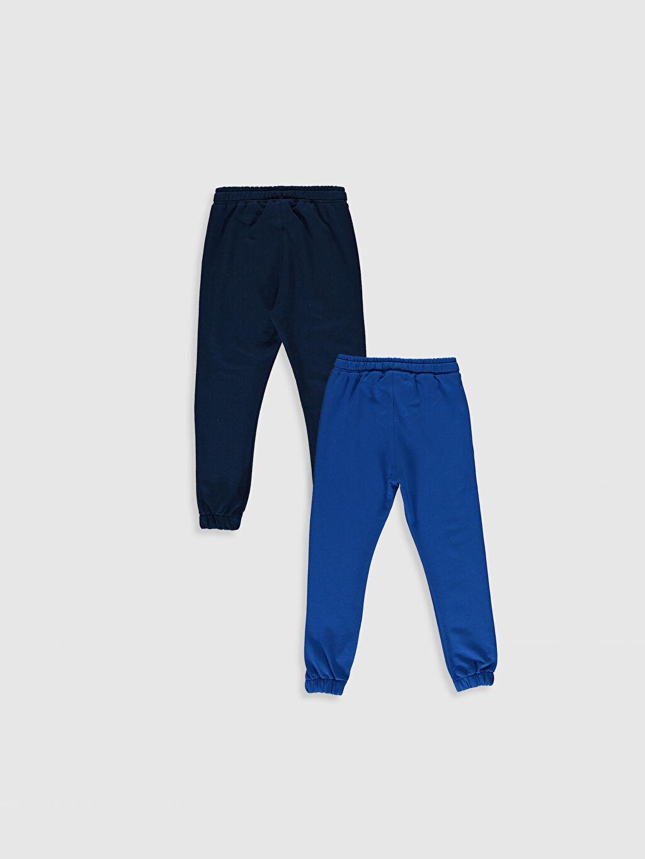 %78 Pamuk %22 Polyester Orta Kalınlık Eşofman Altı Erkek Çocuk Jogger Eşofman Altı 2'li