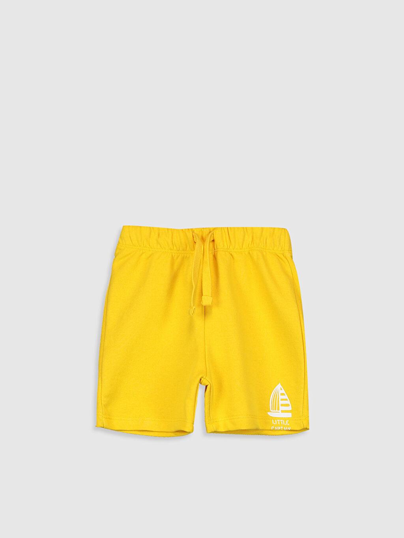 Sarı Erkek Bebek Şort 0SS116Z1 LC Waikiki