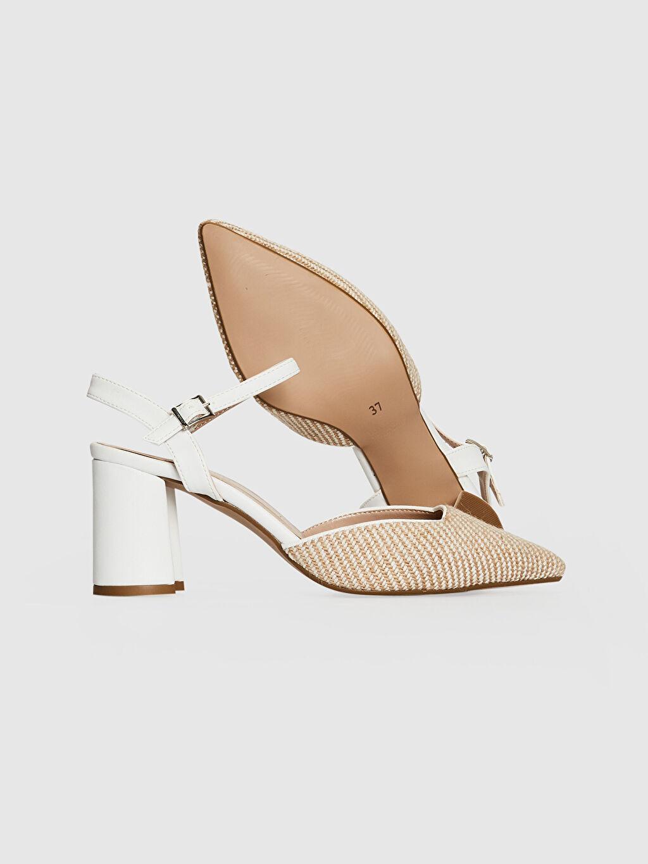 Kadın Kadın Hasır Detay Topuklu Ayakkabı