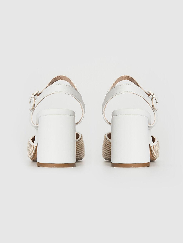Kadın Hasır Detay Topuklu Ayakkabı