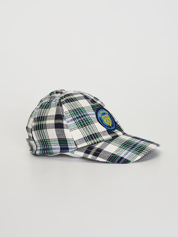 Beyaz Erkek Çocuk Ekose Şapka 0SS296Z4 LC Waikiki