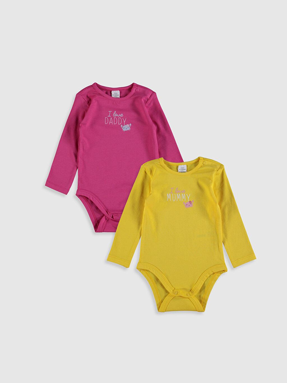 Sarı Kız Bebek Pamuklu Çıtçıtlı Body 2'li 0SS425Z1 LC Waikiki