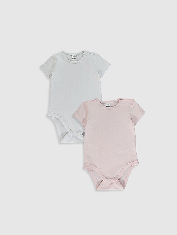 Beyaz Kız Bebek Çıtçıtlı Body 2'Li 0SS429Z1 LC Waikiki