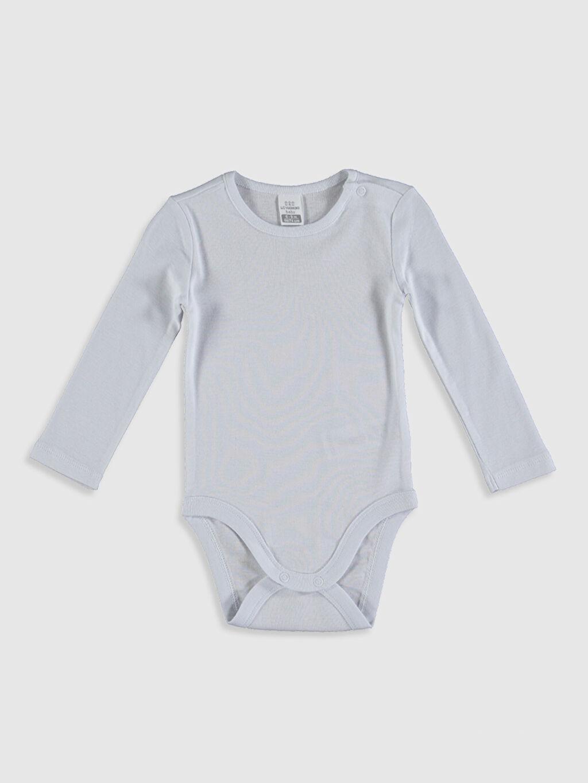 Beyaz Kız Bebek Pamuklu Çıtçıtlı Body 0SS444Z1 LC Waikiki