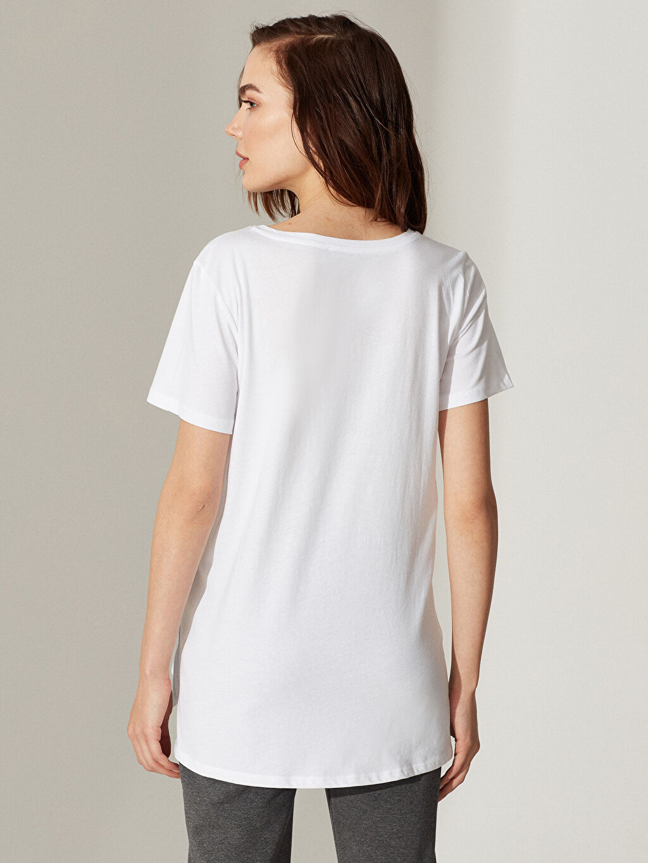 Kadın Pamuklu Hamile Tişört