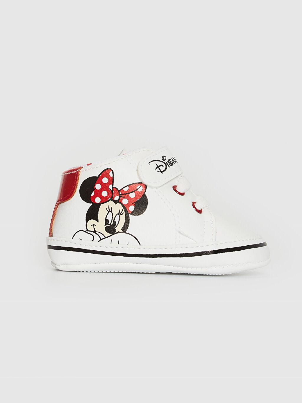 Beyaz Kız Bebek Minnie Mouse Lisanslı Yürüme Öncesi Ayakkabı 0ST091Z1 LC Waikiki