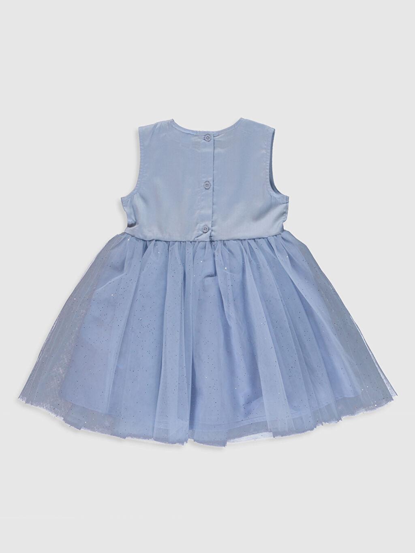 %100 Pamuk %100 Pamuk Elbise Saten Standart Baskılı Shift Şık Kız Bebek Elsa Baskılı Elbise ve Taç
