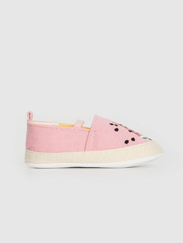 %0 Tekstil malzemeleri (%100 pamuk) Işıksız Pamuk Astar Yürümeyen Lastik Kız Bebek Nakış Detaylı Espadril Yürüme Öncesi Ayakkabı