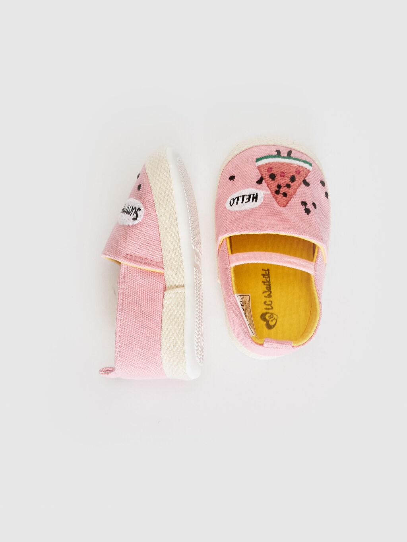 Kız Bebek Kız Bebek Nakış Detaylı Espadril Yürüme Öncesi Ayakkabı