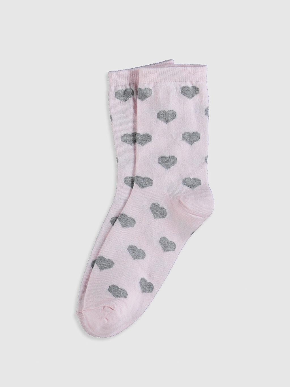 LC Waikiki Pembe Anne Kız Soket Çorap 2'Li