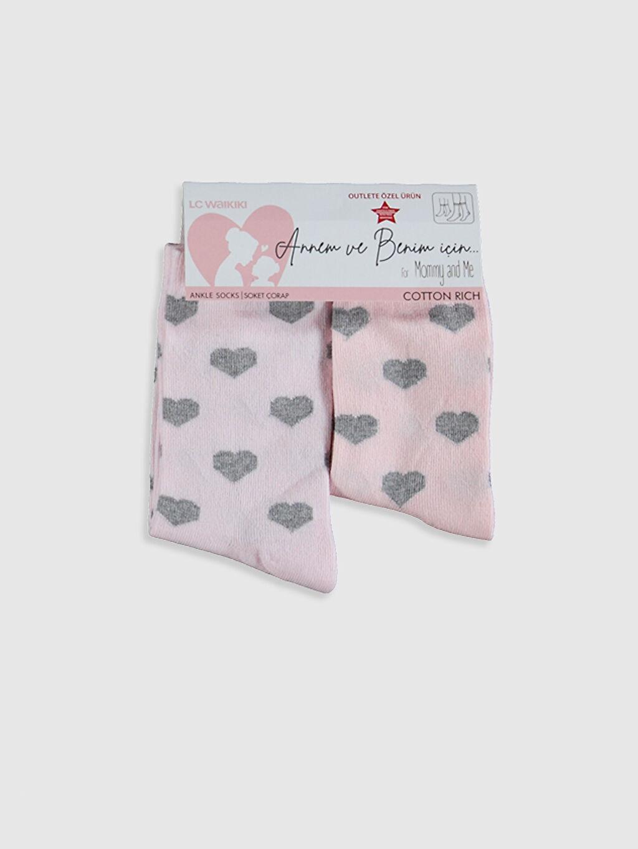 Pembe Anne Kız Soket Çorap 2'Li 0ST235Z4 LC Waikiki