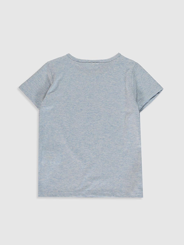 %49 Pamuk %51 Polyester Standart Tişört Bisiklet Yaka Kısa Kol İşlemeli Kız Çocuk Desenli Pamuklu Tişört