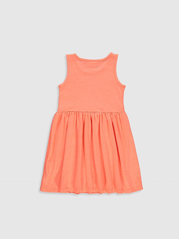 %47 Pamuk %53 Polyester Elbise Çizgili Kız Çocuk Pamuklu Elbise