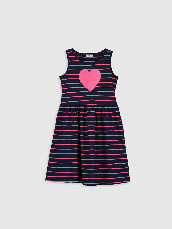 Pembe Kız Çocuk Pamuklu Elbise 0ST561Z4 LC Waikiki