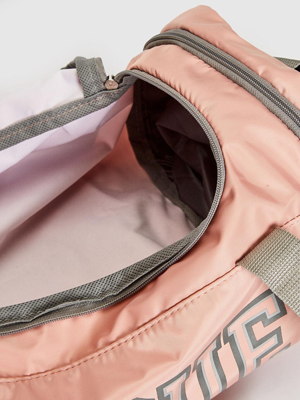 %100 Polyester Kız Çocuk Yazı Baskılı Spor Çanta
