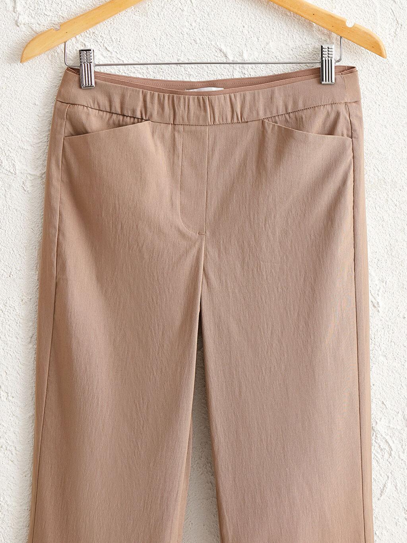 Kadın Beli Lastikli Düz Paça Pantolon