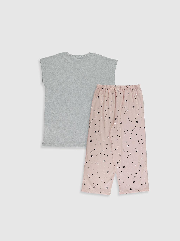 %50 Pamuk %50 Polyester Pijama Takım Süprem Kısa Kol Standart Bisiklet Yaka Kız Çocuk Baskılı Pamuklu Pijama Takımı