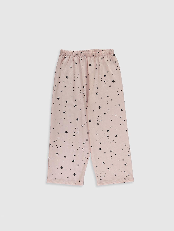 %50 Pamuk %50 Polyester Kız Çocuk Baskılı Pamuklu Pijama Takımı