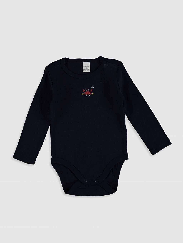 0ST973Z1 Erkek Bebek Pamuklu Çıtçıtlı Body 2'li