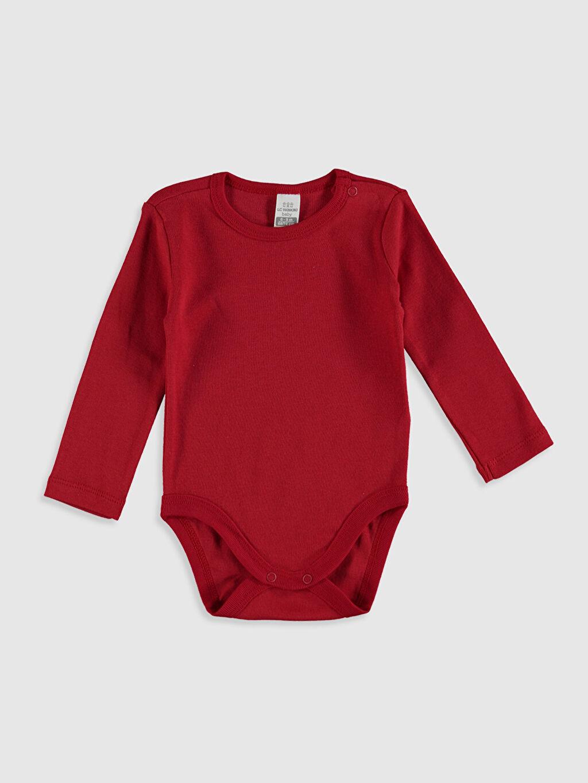 Kırmızı Erkek Bebek Pamuklu Çıtçıtlı Body 2'li