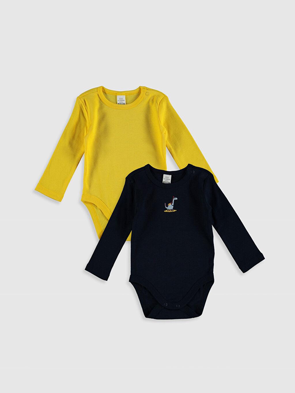 Sarı Erkek Bebek Pamuklu Çıtçıtlı Body 2'li 0ST996Z1 LC Waikiki