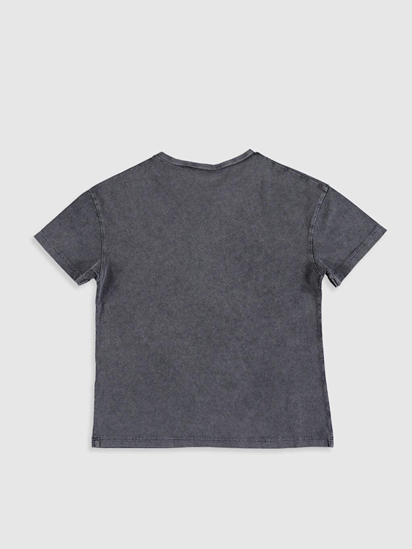 %100 Pamuk Baskılı Tişört Kısa Kol Süprem Bisiklet Yaka Kız Çocuk Minnie Mouse Baskılı Pamuklu Tişört