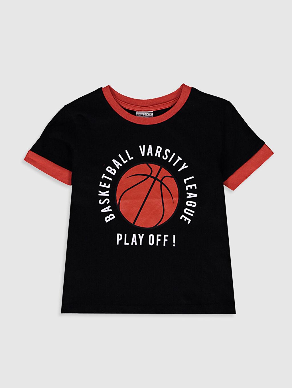 Siyah Erkek Çocuk Baskılı Tişört 0SU051Z4 LC Waikiki
