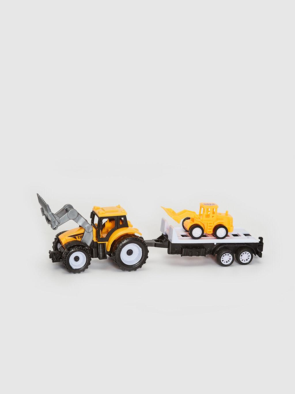 Plastik Aksesuar Oyuncak Arabalı Traktör