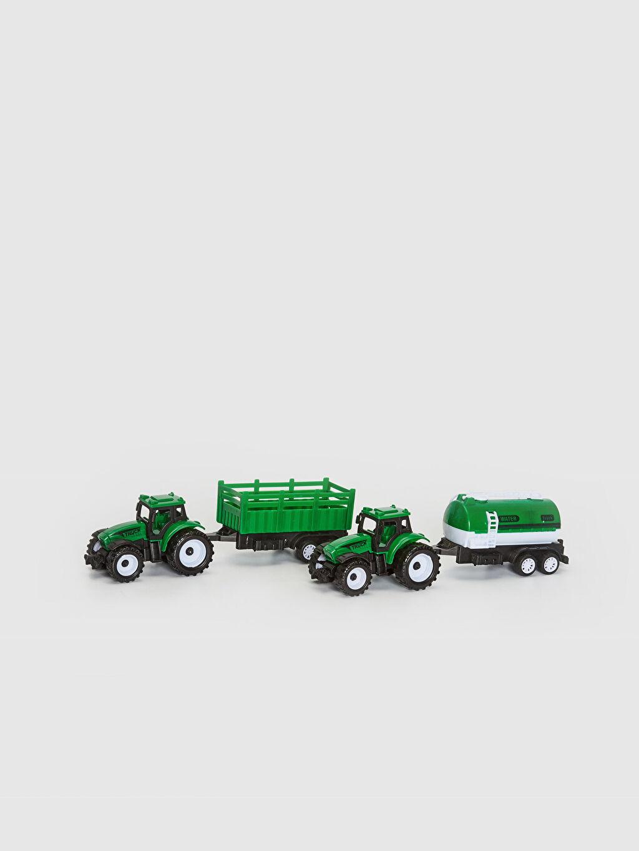 Plastik Aksesuar Oyuncak Traktör 2'li