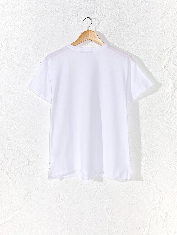 Kadın Işıltılı Pamuklu Hamile Tişört