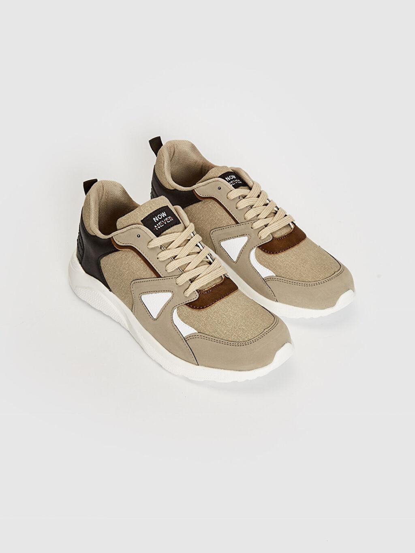 Hafızalı Sünger Günlük Penye Astar Standart Bağcık Sneaker Hafif Erkek Bağcıklı Günlük Spor Ayakkabı