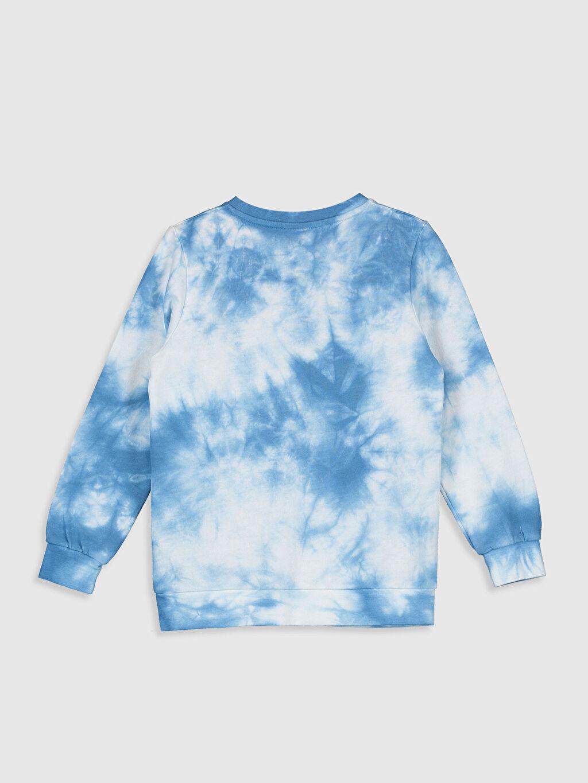 %80 Pamuk %20 Polyester Tişört Bisiklet Yaka İki İplik Baskılı Erkek Çocuk Batik Desenli Sweatshirt