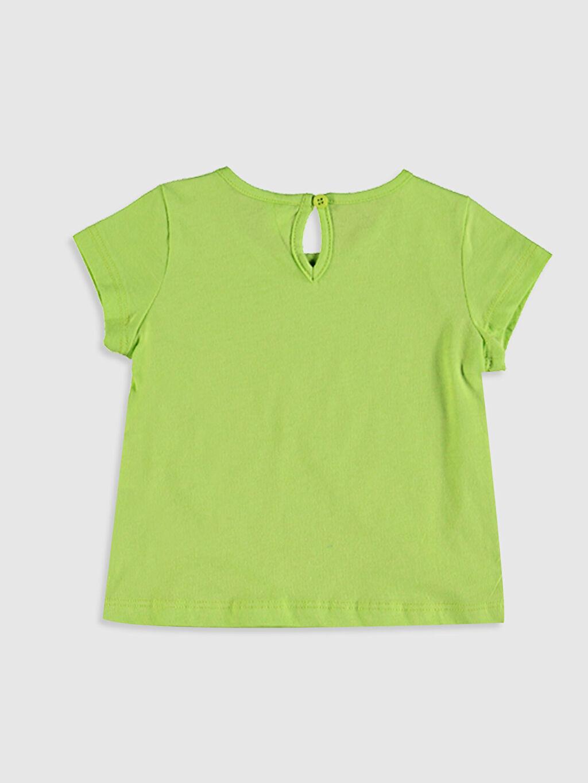 %100 Pamuk Tişört Bisiklet Yaka Kısa Kol Düz Kız Bebek Baskılı Tişört
