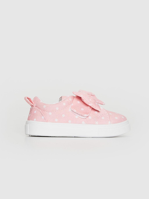 Pembe Kız Bebek Fiyonk Detaylı Puantiyeli Sneaker 0SU656Z1 LC Waikiki
