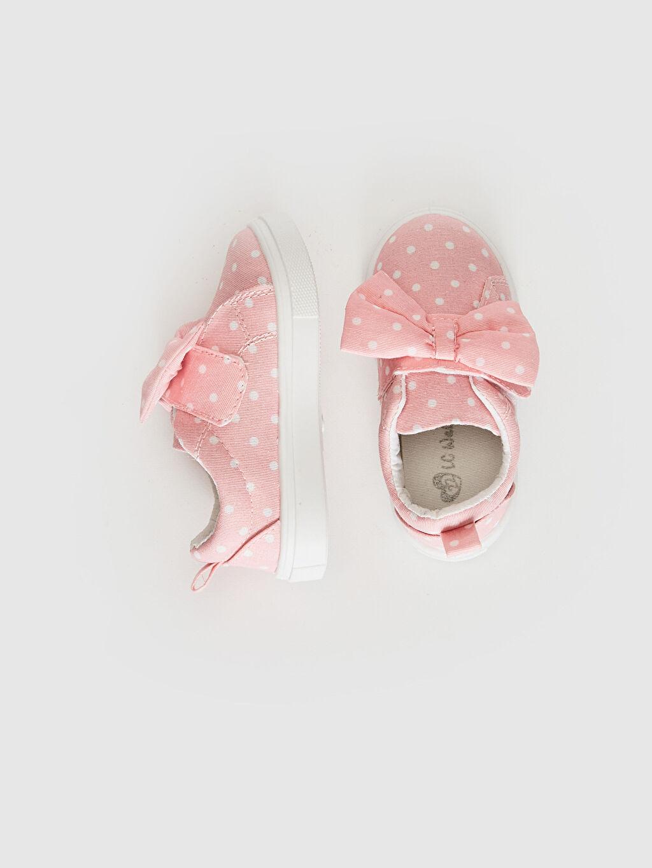 Kız Bebek Kız Bebek Fiyonk Detaylı Puantiyeli Sneaker