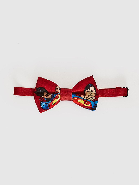 %100 Polyester Papyon Erkek Çocuk Süperman Lisanslı Papyon