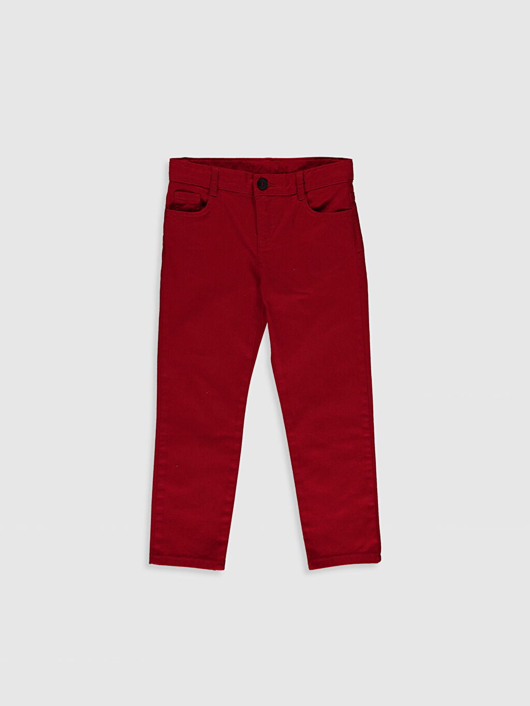 Kırmızı Erkek Çocuk Pamuklu Pantolon 0SU891Z4 LC Waikiki