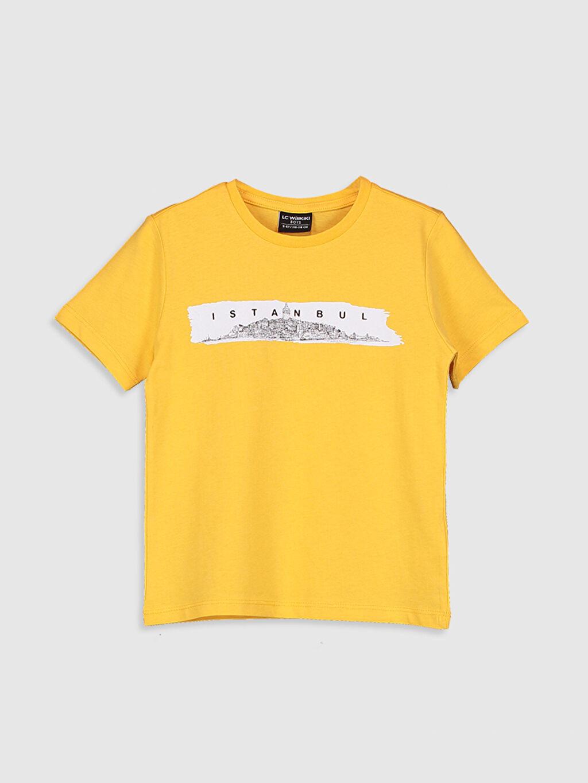 Turuncu Erkek Çocuk İstanbul Baskılı Pamuklu Tişört 0SU983Z4 LC Waikiki