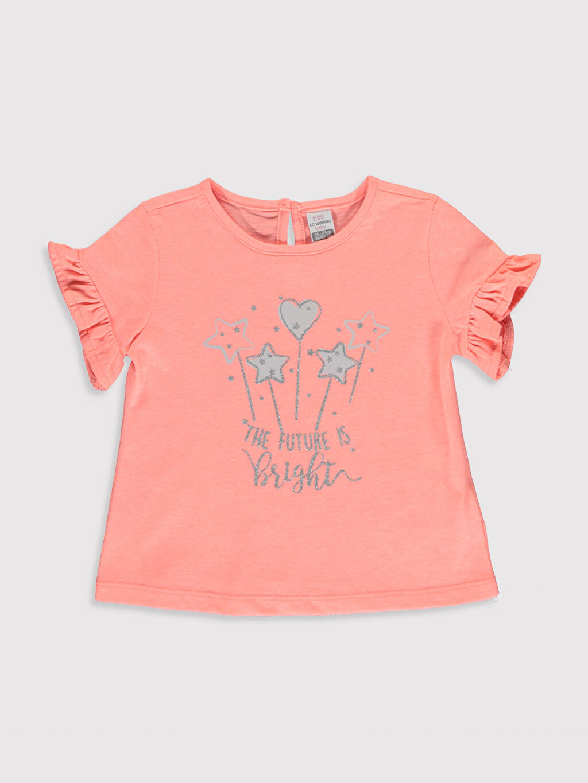 Pembe Kız Bebek Baskılı Pamuklu Tişört  0SV096Z1 LC Waikiki