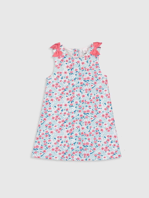 Ekru Kız Bebek Baskılı Elbise 0SV142Z1 LC Waikiki