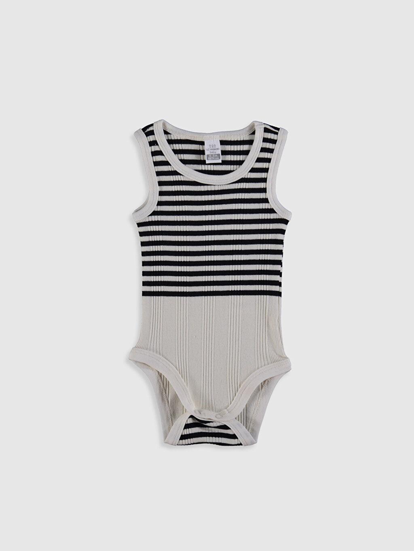 Erkek Bebek Çizgili Çıtçıtlı Body 2'li