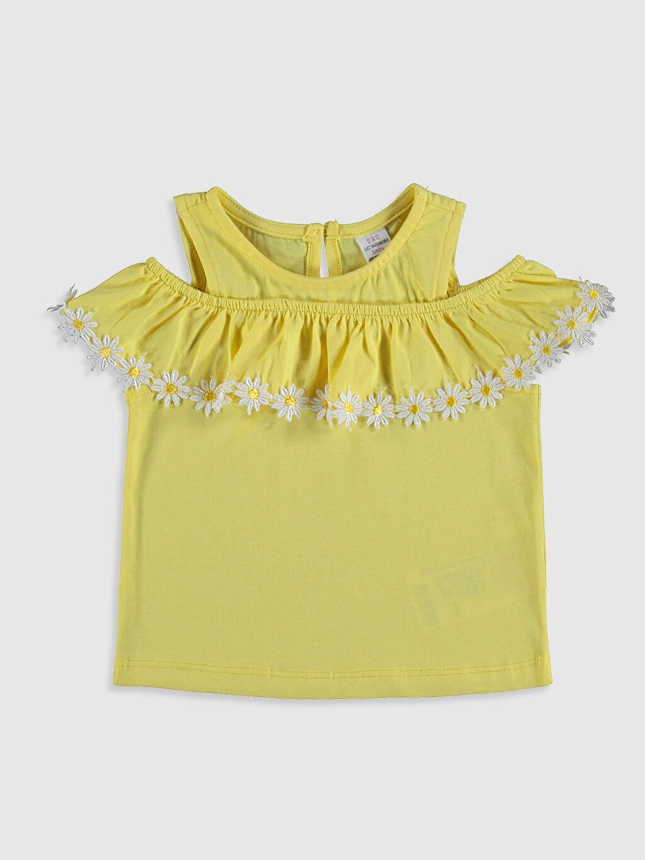 Sarı Kız Bebek Pamuklu Tişört 0SV611Z1 LC Waikiki