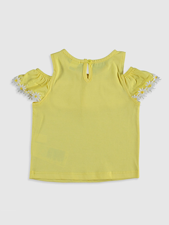 %100 Pamuk Tişört Bisiklet Yaka Günlük Kısa Kol Düz A Kesim Süprem Standart Kız Bebek Pamuklu Tişört