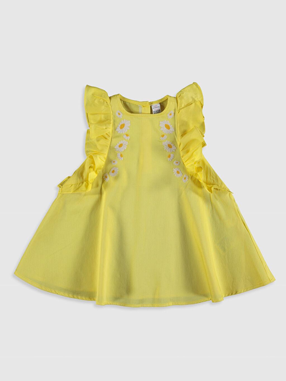 Sarı Kız Bebek Pamuklu Elbise 0SV643Z1 LC Waikiki