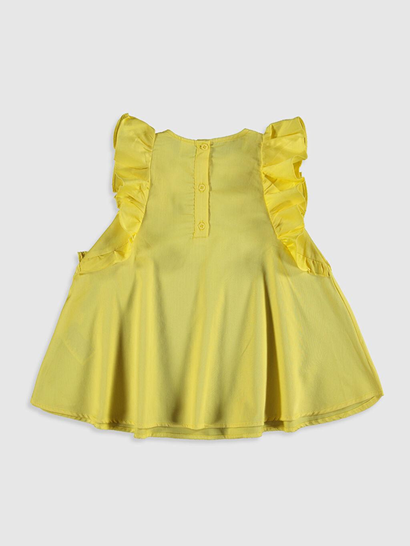 %100 Pamuk Günlük Poplin Elbise Standart Baskılı Kız Bebek Pamuklu Elbise
