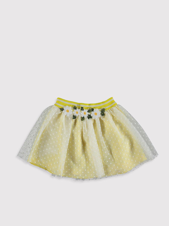 Sarı Kız Bebek Tül Etek 0SV644Z1 LC Waikiki