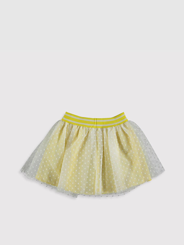 %100 Polyester %100 Pamuk Etek Smart Casual Tütü Tül Standart Baskılı Kız Bebek Tül Etek